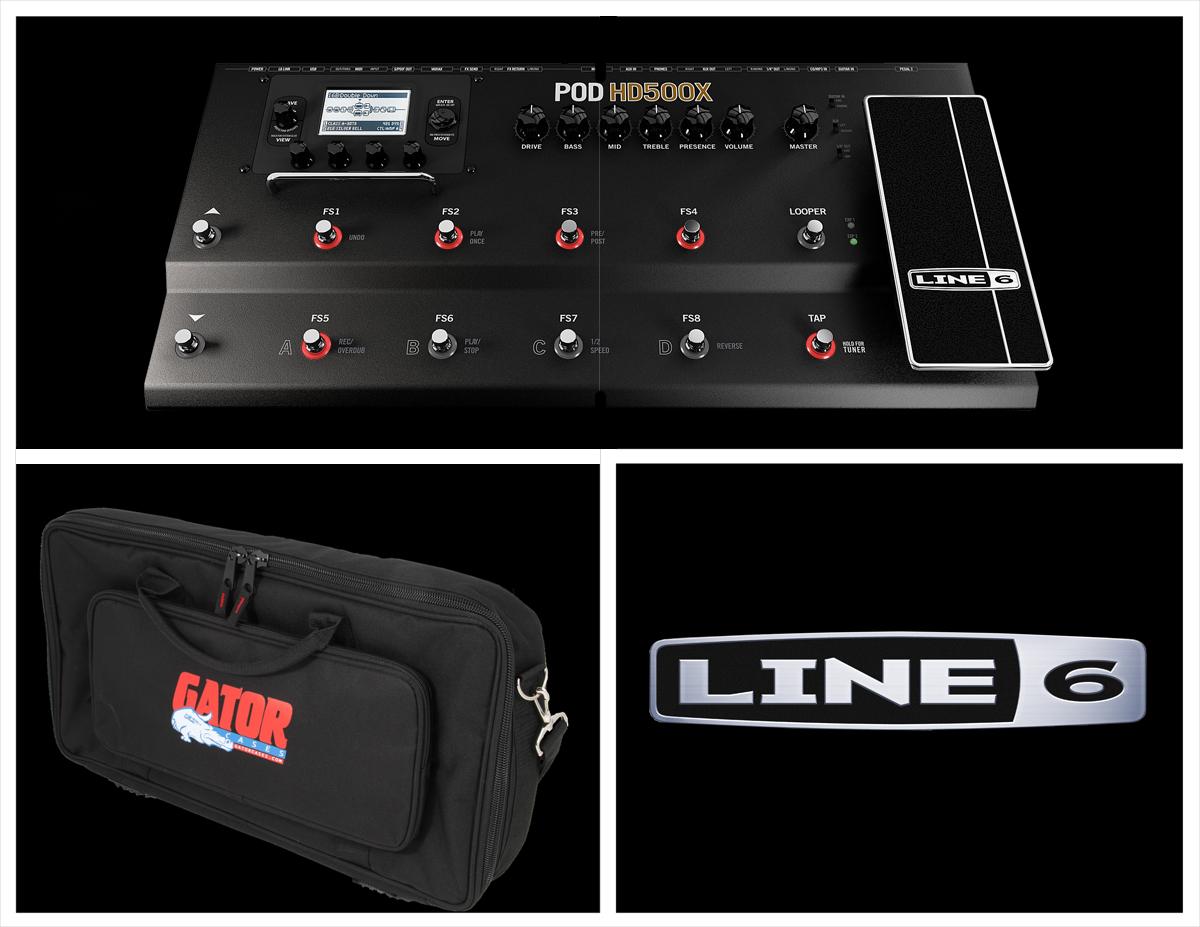 line 6 pod hd500x with free gator gk2110. Black Bedroom Furniture Sets. Home Design Ideas