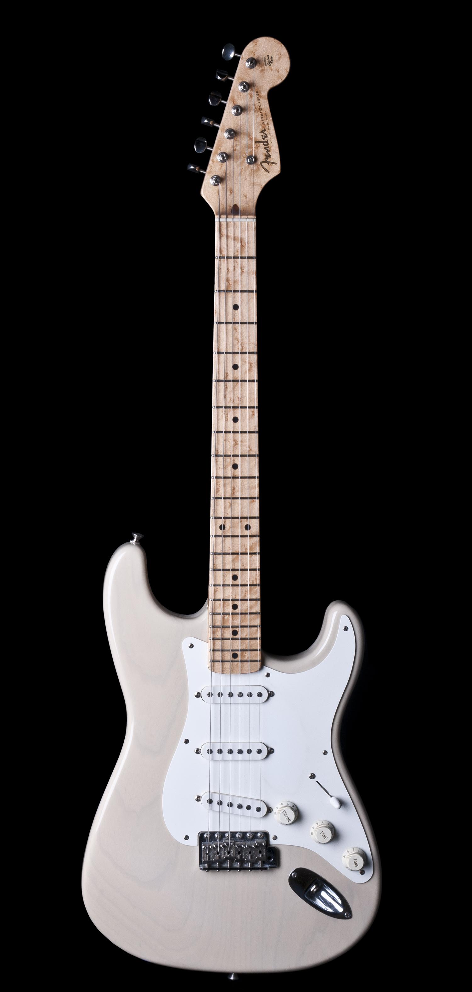 fender custom shop 1954 stratocaster electric guitar in white blonde ebay. Black Bedroom Furniture Sets. Home Design Ideas